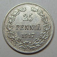Silver 25 pennies after cleaning with citric acid